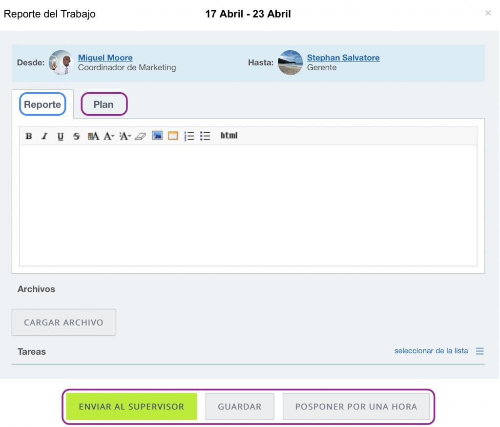 Informes de trabajo y tiempo de trabajo: guia de usuario